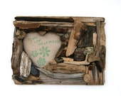 Handmade Heart Shaped Driftwood Frame, Rustic Home Decor, Shabby Chic Gift Idea (Made to Order)