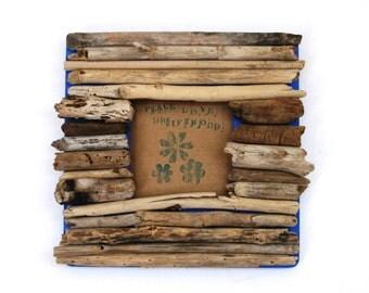 Driftwood Frame: Shabby Chic Coastal Home Decor (MADE TO ORDER)