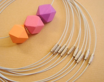 White  Steel Cords ,Do it Yourself  Jewelry