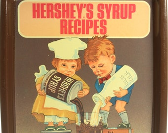 Hershey's Syrup Recipes Metal Collectible Tray