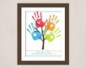 DIY Children's Pre-School Graduation Handprint Tree Keepsake Art Print Printable PDF