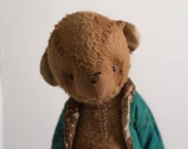 Made to order - Artist Teddy Bear Michael - Stuffed  Animal Brown Bear- Stuffed Bear - Mohair Teddy Bears - Soft Toys