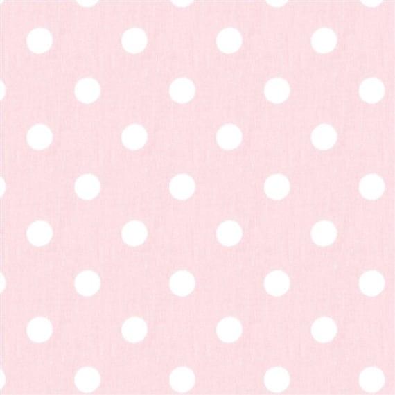 light baby pink white polka dot fabric remnant 20 x. Black Bedroom Furniture Sets. Home Design Ideas