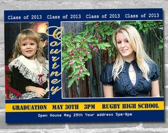 Graduation Announcements or Thank You Photo Cards - Print your own file OR Printed cards with envelopes