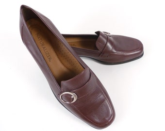 Vintage 70s Naturalizer Brown Preppy Loafers Shoes 7.5 8 M