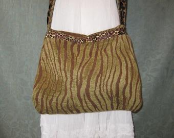Sale Tiger Strip bag purse, animal print, Bohemian Boho Bag, crossbody bag