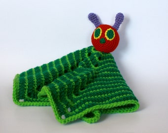 Caterpillar Lovey, security blanket, very hungry caterpillar