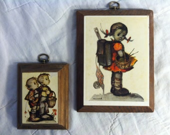 Cute Innocent HUMMEL WALL PLAQUES Vintage