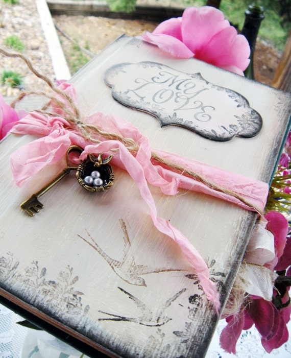 Creative office accessories in a shabby chic style rustic for Z gallerie bathroom guest book