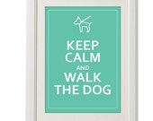 dog pastel poster, keep calm,  8''x10'', free shipping, mint pastel, spring
