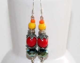 Bright and colorful summer earrings.