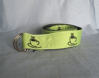 Women's Embroidered Coffee Cup Belt