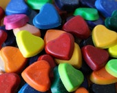 Heart shaped crayons - perfect for princess parties