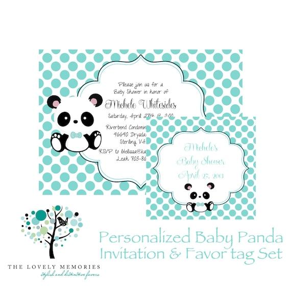 Baby Panda Baby Shower Water Bottle Label  Printable File