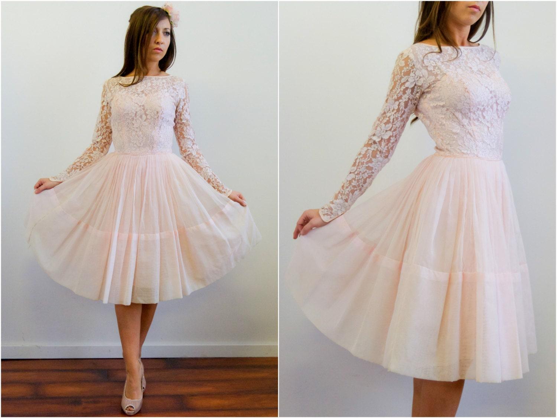 Vintage 1950's Pink La...