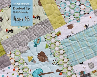 Doubled Up PDF Three Baby Quilt Patterns for Beginning Quilters, Layer Cakes, Stackers, Crib Quilt Pattern, Easy Quilt Pattern, Basic Baby