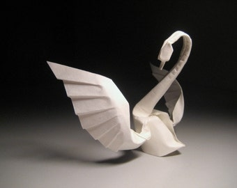 Instruction - Origami Dancing swan (PDF vector diagrammed)