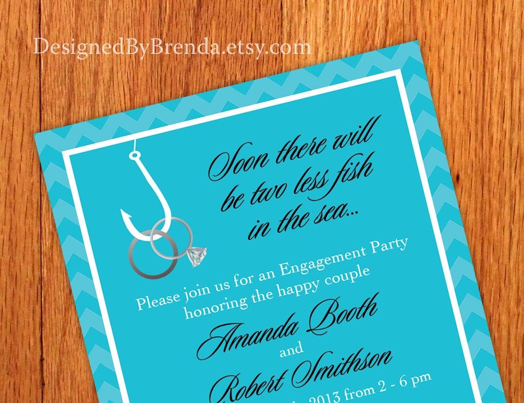 Free Customized Engagement Invitations with perfect invitation layout