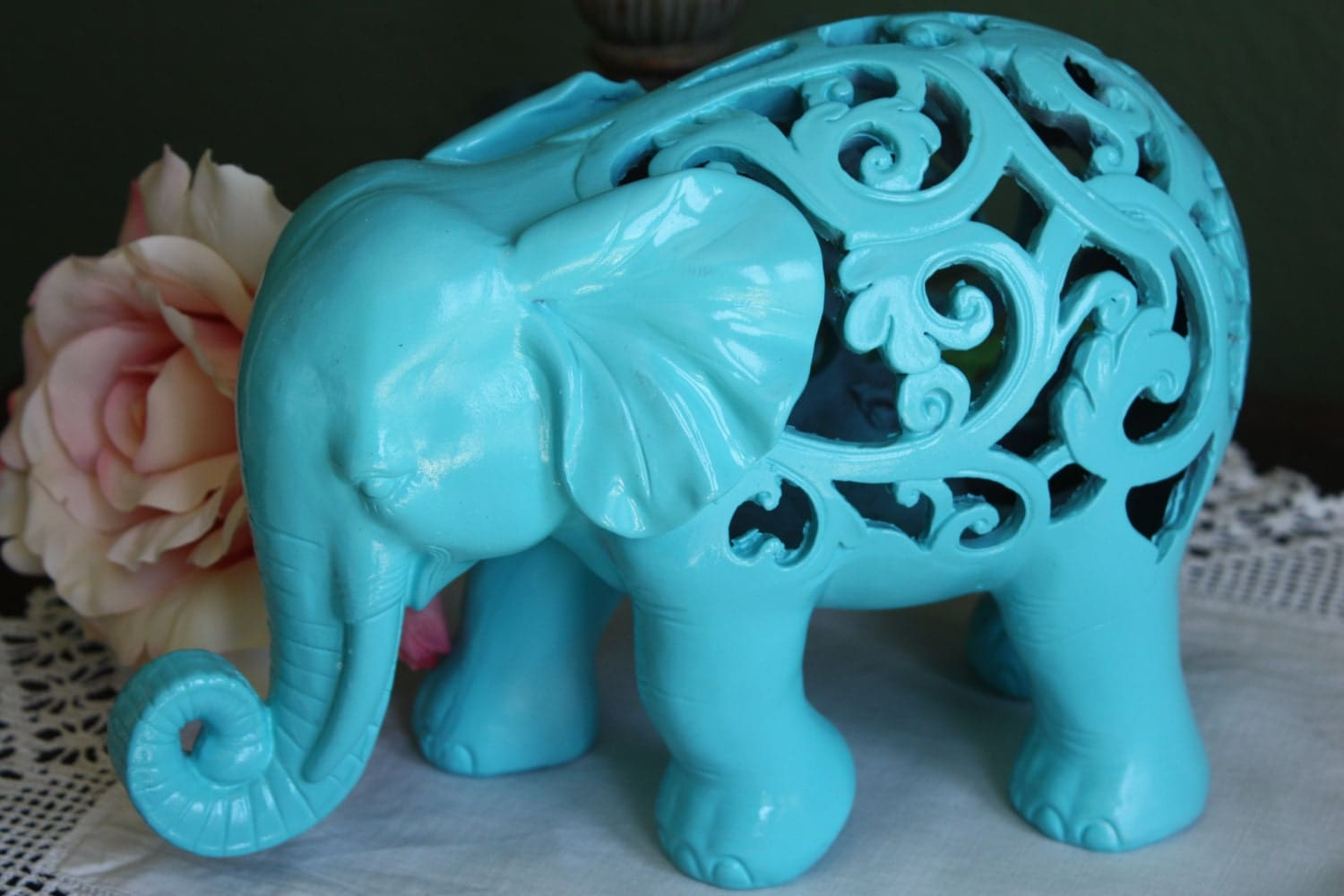 Pick your color ornate elephant figurine home decor animal Colorful elephant home decor