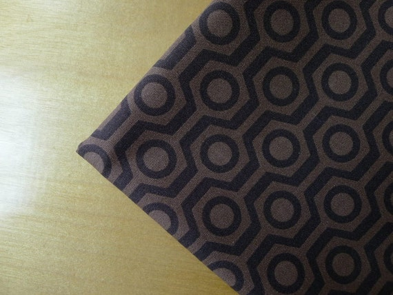 Hot Chocolate - Honeycomb in Brown - 1/2 YARD