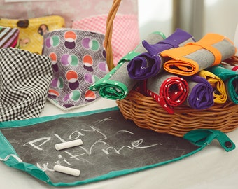Portable Chalkboard Play Mat/ Placemat Mini  - Various Colours Available