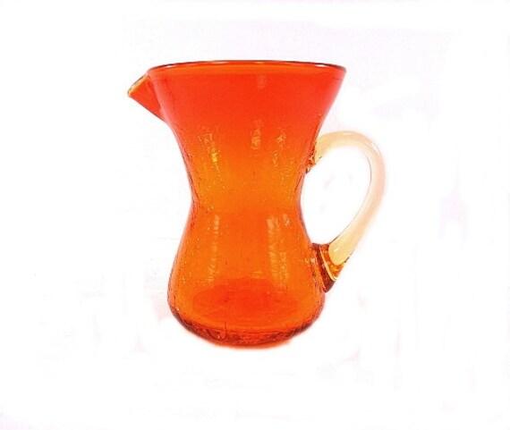 pitcher amberina blenko glass crackle revisit favorites later