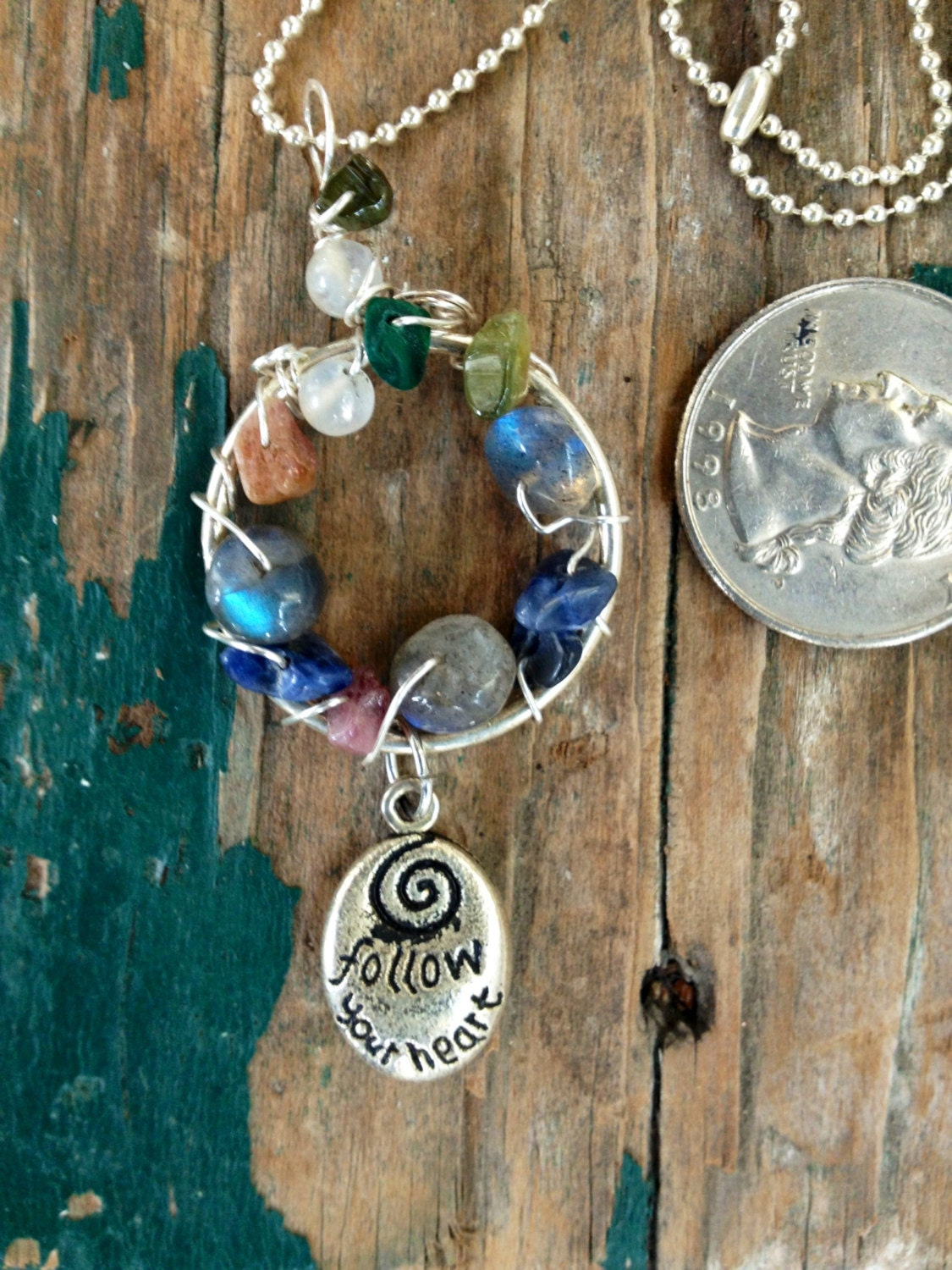 Healing Stones Inspirational Necklace on Life Cycle Of A Erfly