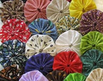 yo yos 30 2 inch assorted fabric special