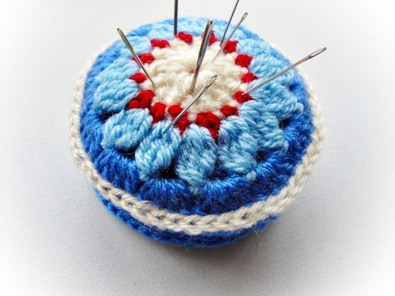 Instant Download:  Lily Pincushion Crochet Pattern
