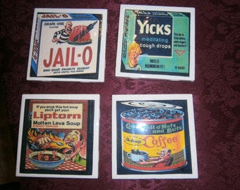 Wacky Packs Retro Coasters Set 3