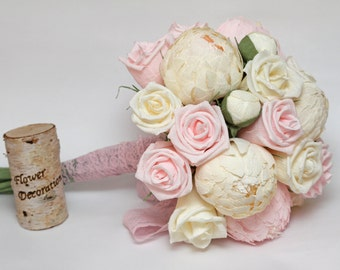 wedding bouquet, paper flower bouquet, bridesmaids bouquets, bridal bouquets, wedding flowers, paper flowers