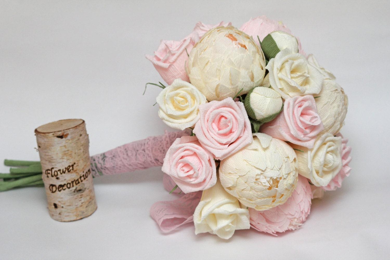 wedding bouquet paper flower bouquet bridesmaids bouquets