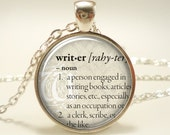 Personalized Dictionary Word Necklace, Custom Text Pendant Jewelry (DICTS1IN)