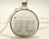 Pi Necklace, Mathematical Jewelry, Math Teacher Gift Pendant (1577S1IN)