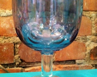 Iridescent Carnival Glass Goblet