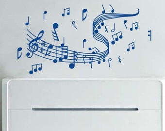 120x58cm Removable Music Note   Nature Vinyl Wall Paper Decal Art Sticker Q210