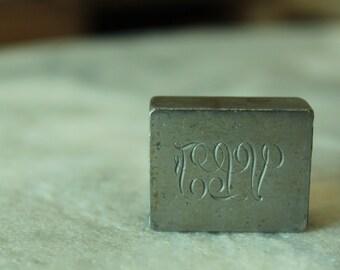Vintage Engraving Block, VLF