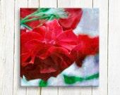 "Red roses, Canvas art print, 12""x12"""", 30x30 cm"