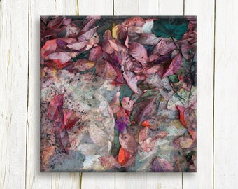 Autumn leaves print on canvas nature print