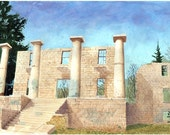 Patapsco Female Institute Facade - Limited Edition of 25 prints