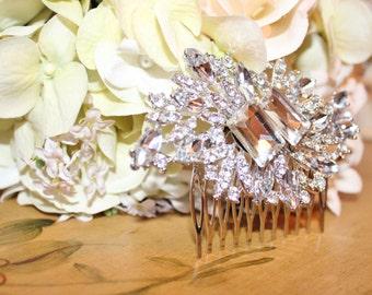 Rhinestone Bridal Comb Head Piece