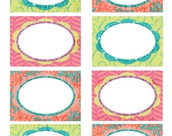 INSTANT DOWNLOAD - Printable Glitter Labels - Mailing or Address - Gift Labels - Holiday Labels - Digital Design