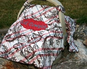 Ari's Angels Personalized Baby Girl or Boy Carseat Canopy or cover Embroidered