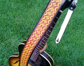 Hand-Tooled Guitar Strap