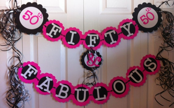 50th birthday decorations party banner fifty fabulous for 50 birthday party decoration ideas