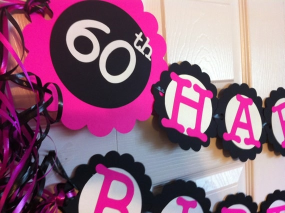 60th birthday decorations personalization available for 60 birthday decoration party