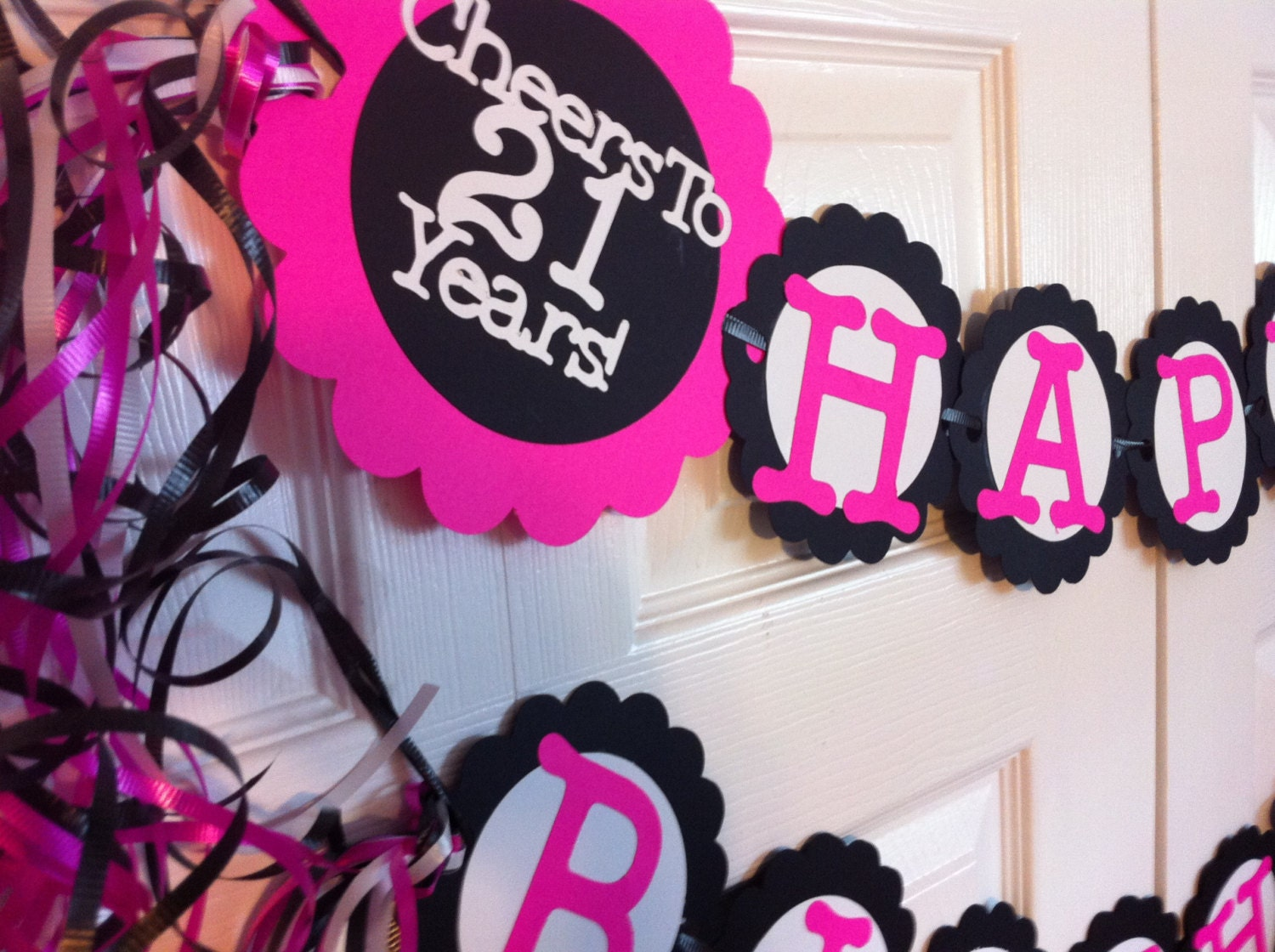 21st birthday party decorations personalization by frombeths for 21st decoration ideas