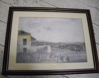 Print of a racing day in the 1800,s