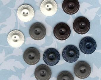 14 Vintage  Plastic Buttons