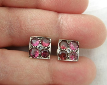 Dazzling 18K Gold Topaz and Tourmaline Earrings